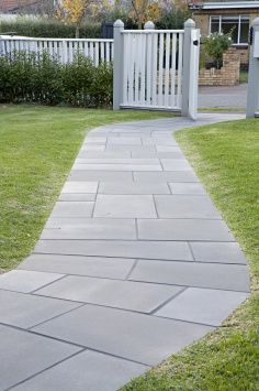 Basalt Concrete Pavers For A Modern Driveway Outdoor