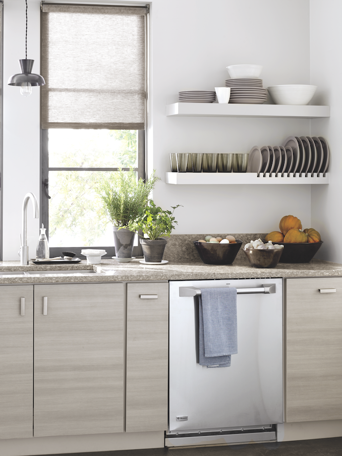 gray is the new neutral this chic kitchen features weston on brilliant kitchen cabinet organization and tips ideas more space discover things quicker id=43353