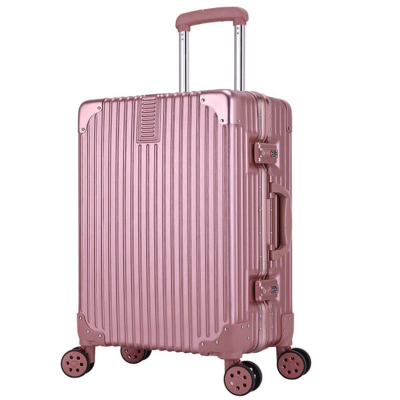 20 24 Inch Trolley Gold Pink Silver Black Aluminium Frame Luggage Bags Marco Aluminio Business Suitcases Travl Password Box Bag Luggage Luggage Bags Bags
