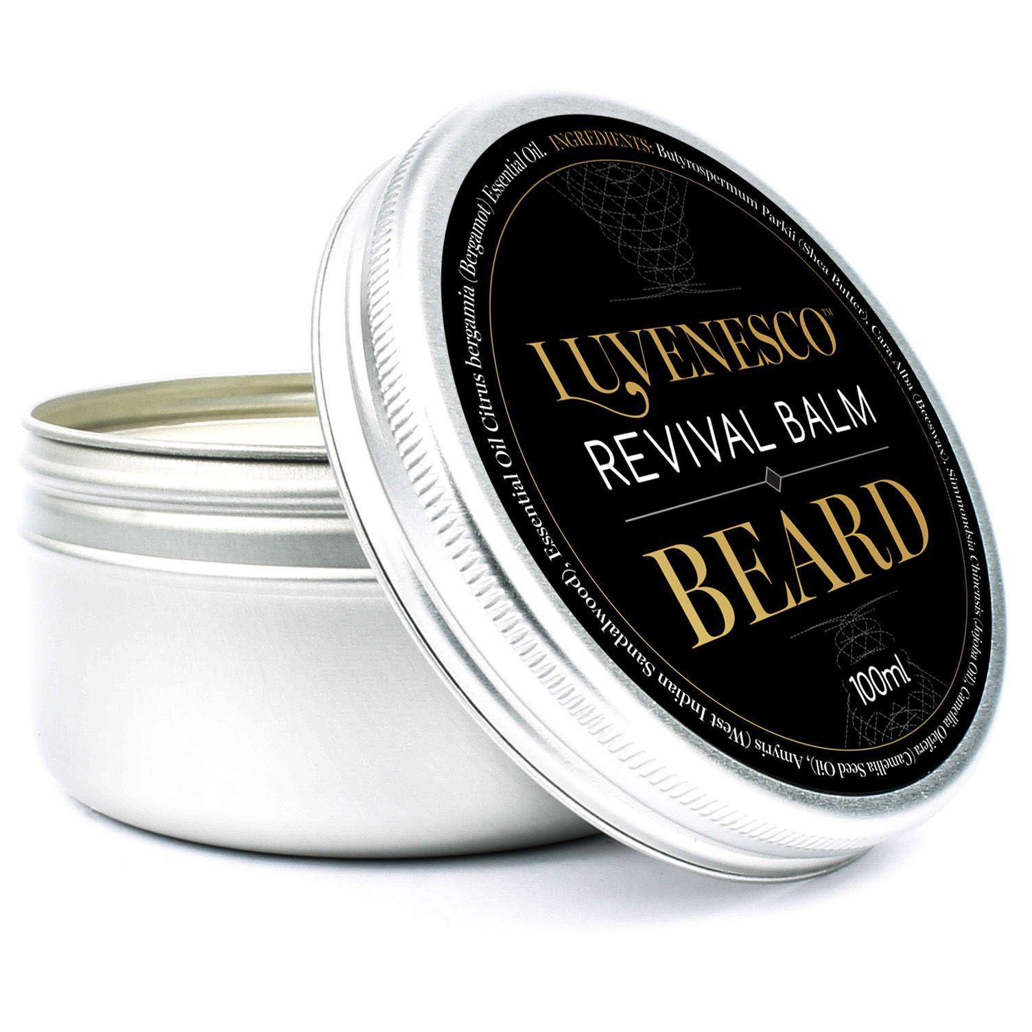 Luvenesco Beard Balm Natural Beard Care For Men Softening