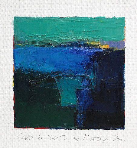 Sep 6 2012  Original Abstract Oil Painting  by hiroshimatsumoto, $60.00
