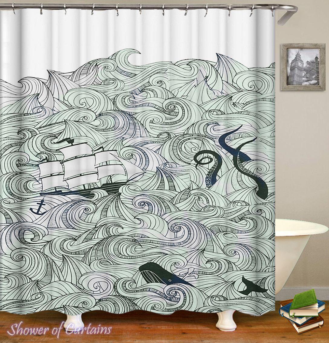 The Kraken Is Coming Shower Curtain - HXTC0374