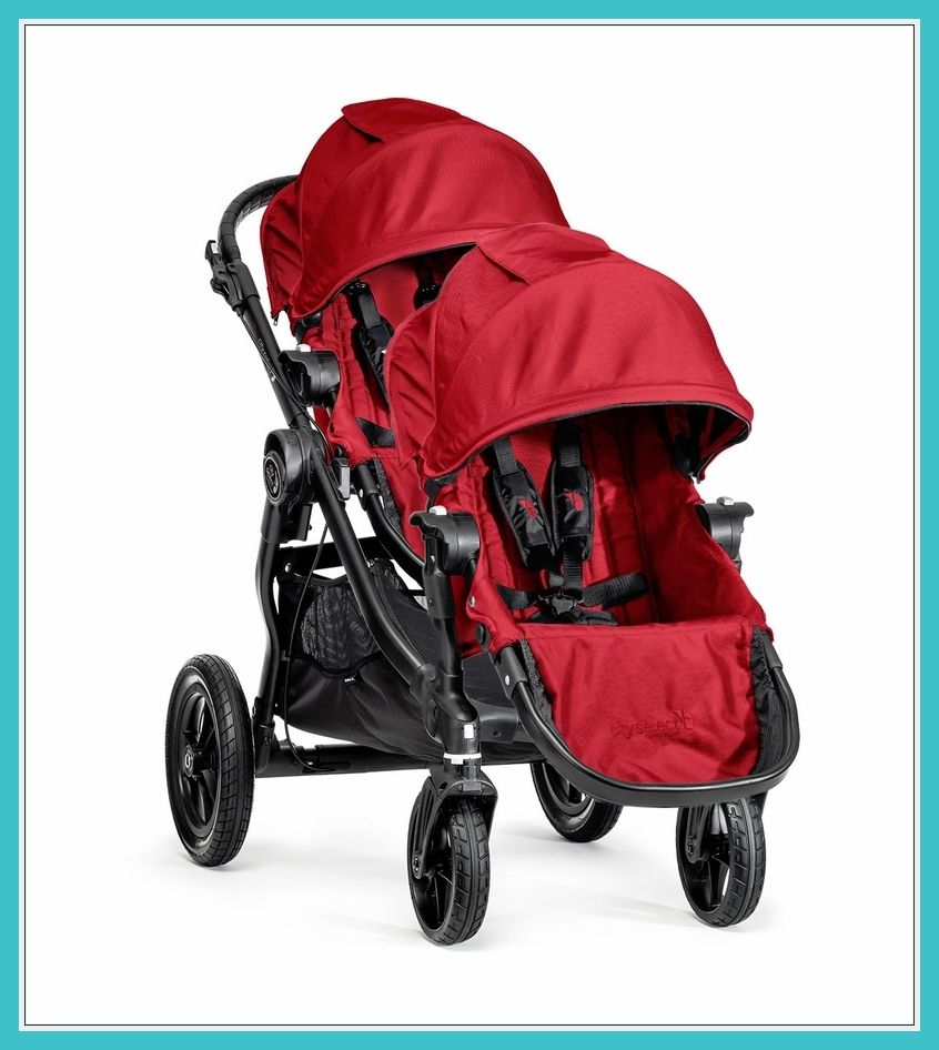 45+ City select double stroller red info