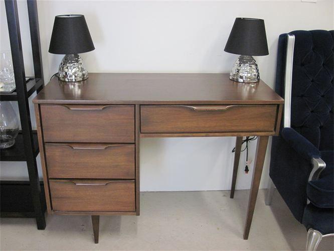 Vintage Mid Century Modern Walnut Desk 395 Desk