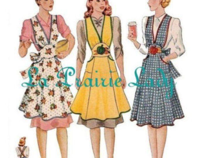 The Maria Wrap Apron PDF sewing pattern, Japanese apron, DIGITAL ...