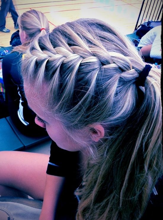 Twist Braid Hairstyles French Braid Ponytail Volleyball Hairstyles Sports Hairstyles Twist Braid Hairstyles