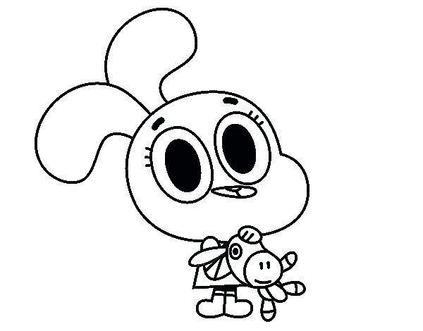 Dibujos para Colorear Gumball y Darwin 3   Dibujos para colorear ...