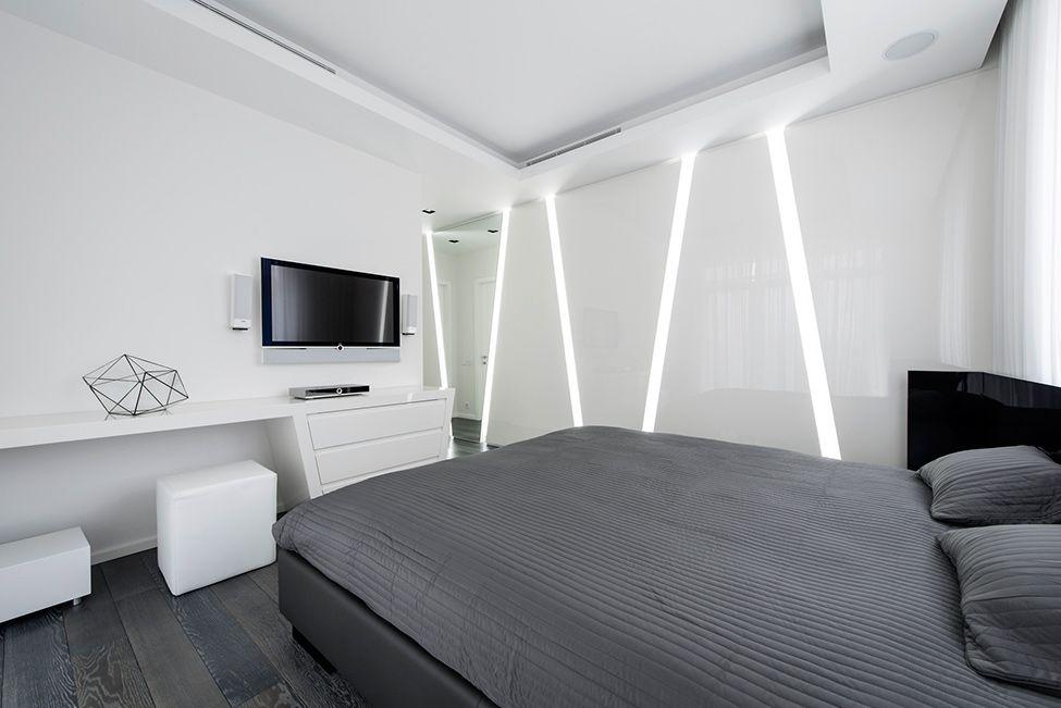 Diseño Futurista De Departamento, Empleo De Formas Geométricas Y Trabajos  Con La Iluminación En La Decoración De Interiores. Futuristic  InteriorFuturistic ...