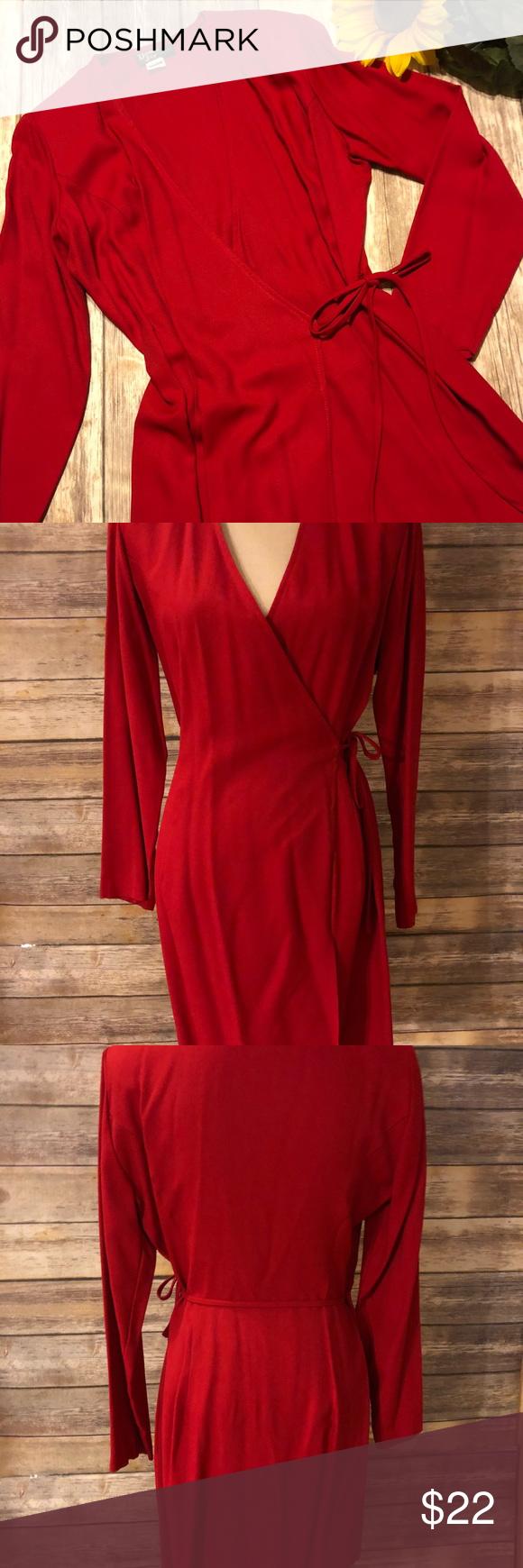 Dawn joy red wrap around dress size dawn wraps and shoulder