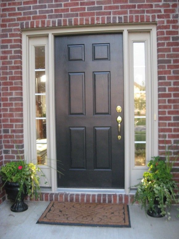 Exterior Various Amazing Front Door With Sidelights Bring The Beauty Of Your Home Exter Brick House Front Door Colors Painted Front Doors Brick Exterior House