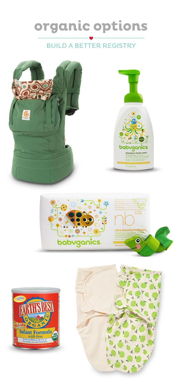 Register for organic baby products to help care for your