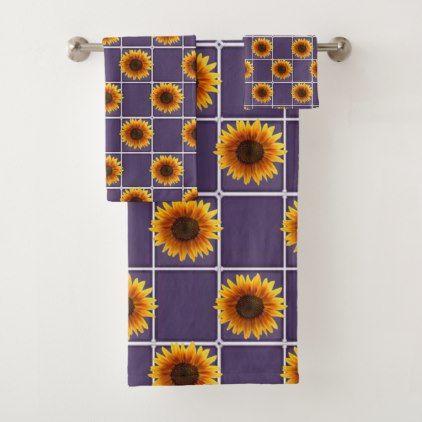 #Bathroom Towel Sets Sunflowers   #Bathroom #Accessories #home #living
