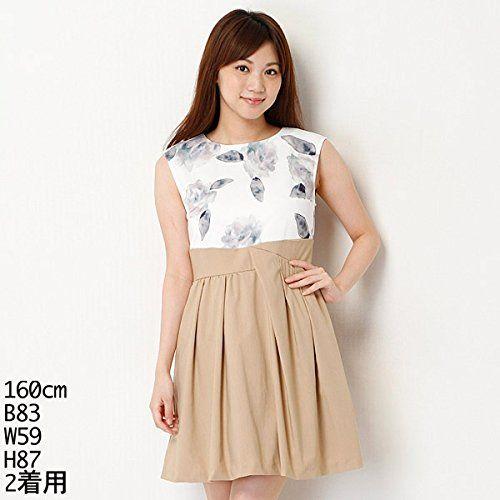 amazon co jp リランドチュール rirandture ワンピース ぼけ花ドッキングタックワンピース 服 ファッション小物 ファッション ワンピース 服