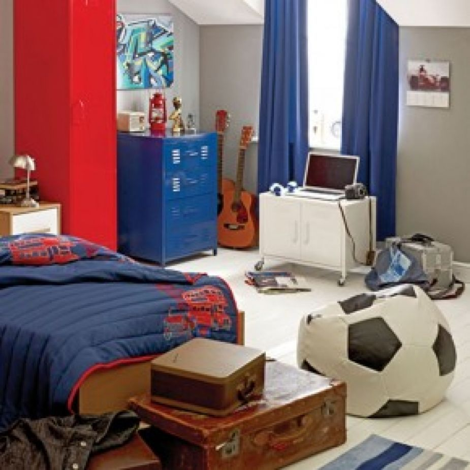 18 Cool And Trendy Teen Boys Bedroom Designs : Stylish Grey Teen Boys  Bedroom Design With