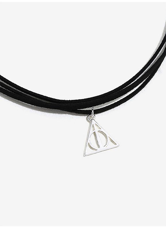 98e471f22fbaf BoxLunch : Harry Potter Deathly Hallows Suede Wrap Necklace | 25 ...