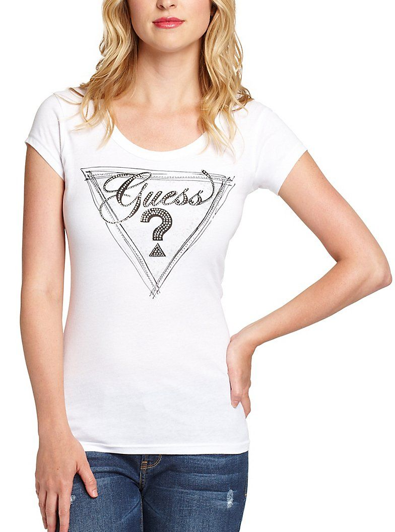 GUESS GLAMISTA SCOOP-NECK TEE