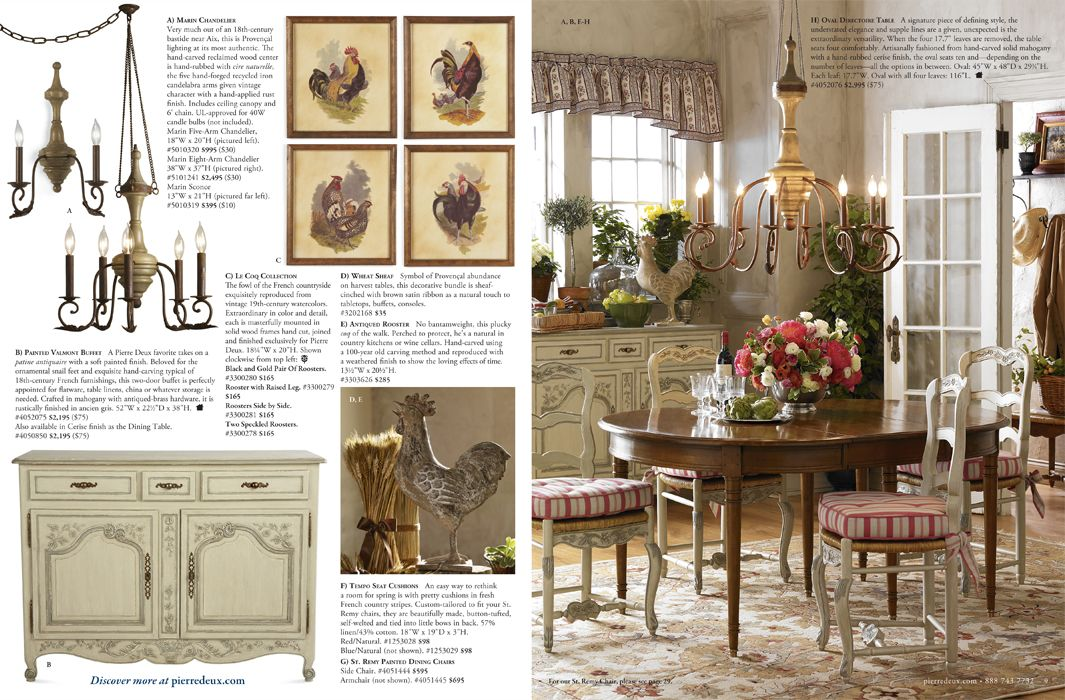 Country French Pierre Deux Catalog Spread