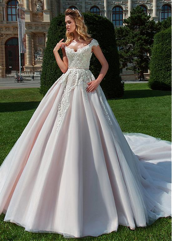 e3ce1e48e Buy discount Alluring Tulle V-neck Neckline A-line Wedding Dress With Lace  Appliques & Beadings at Ailsabridal.com