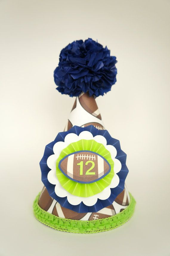 Seattle Seahawks Party Hat Football Superbowl Birthday On Etsy 1650