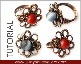Button Ring Tutorial Button Jewelry Tutorial by JustynaJewellery