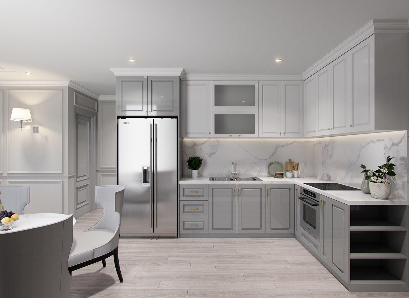 APARTMENT on Behance | Kitchen, Kitchen cabinets, Interior