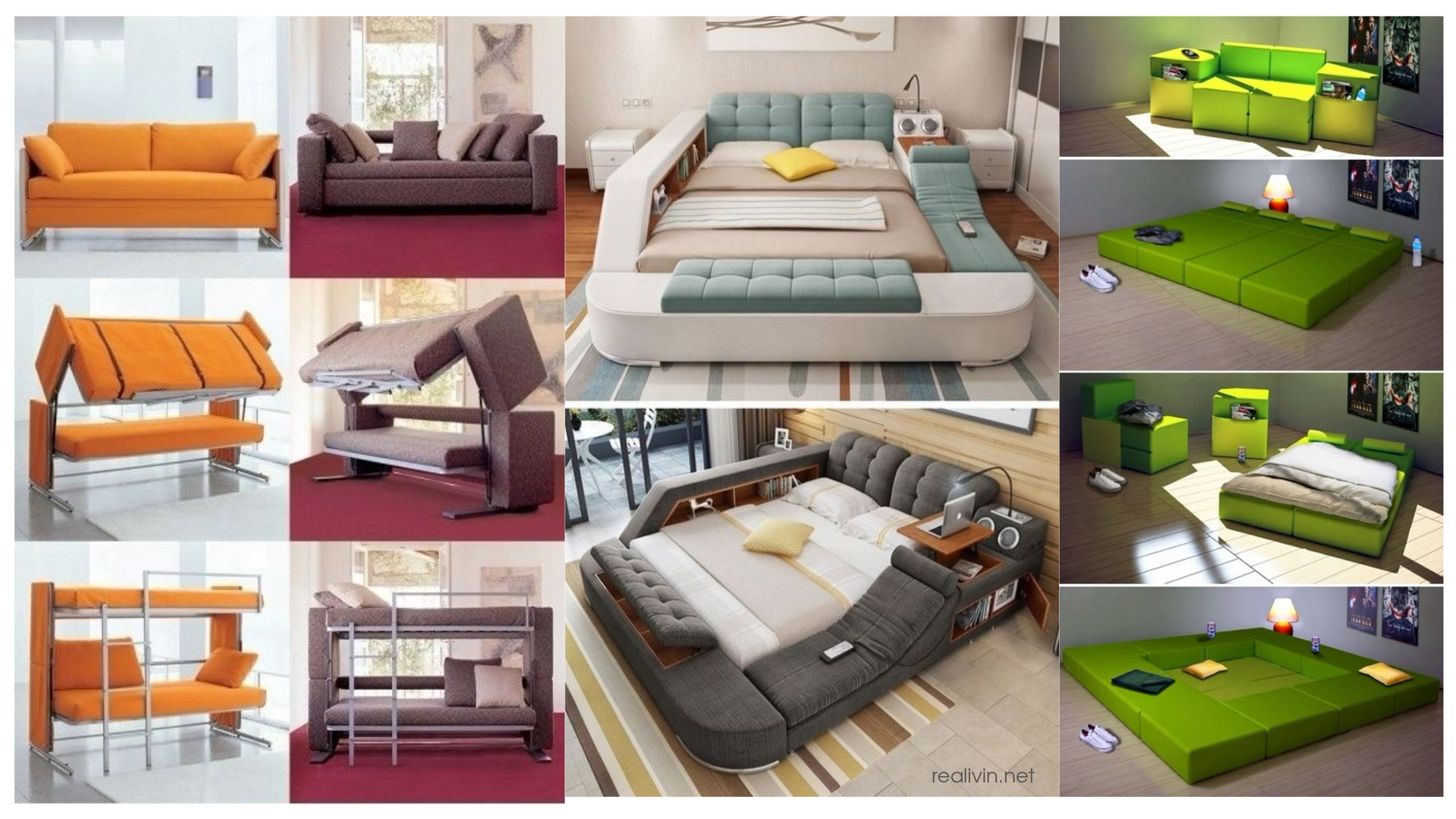 Awesome multifunctional bed for space saving multifunctional