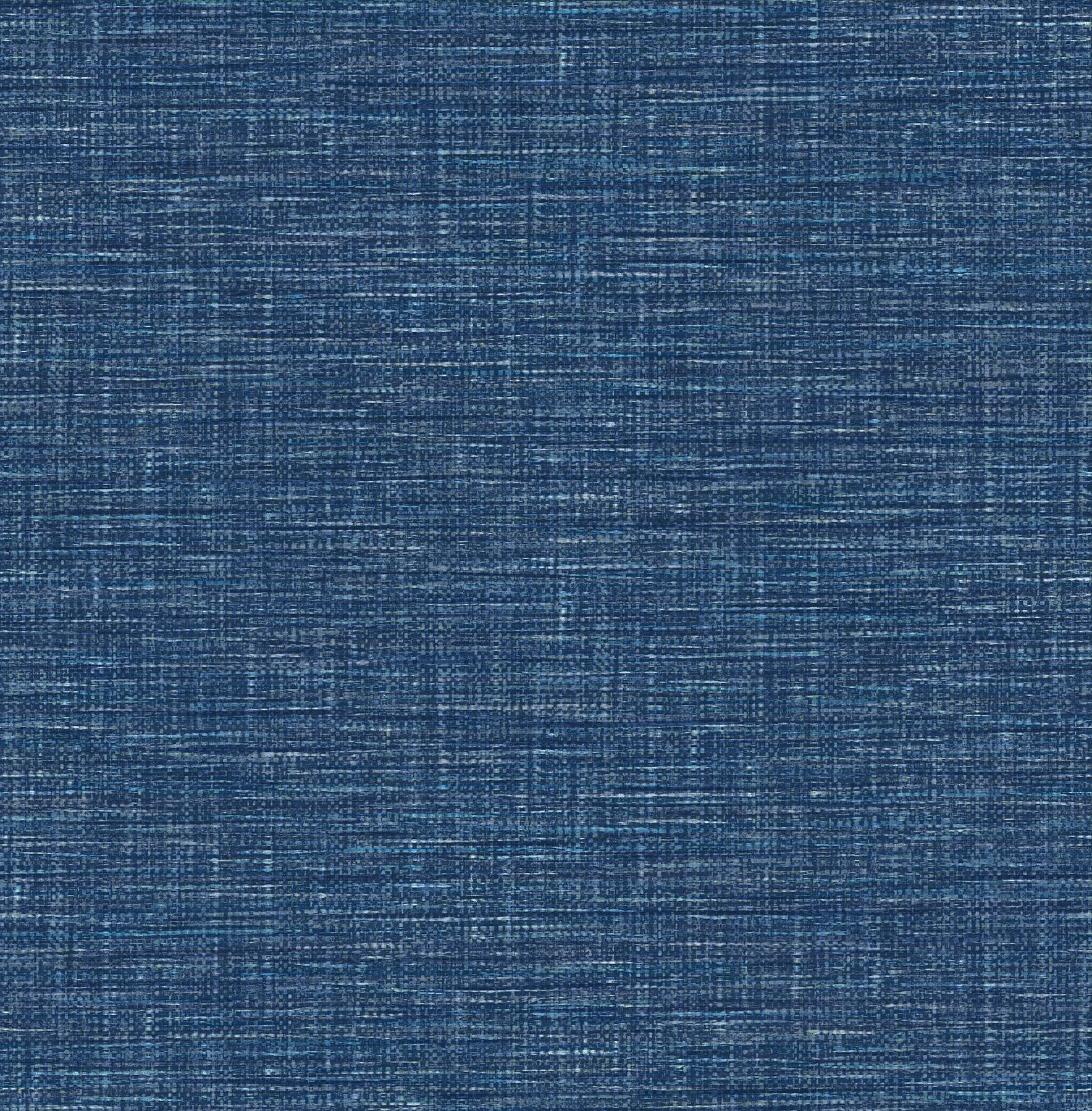 Exhale Dark Blue Faux Grasscloth Wallpaper Grasscloth Wallpaper Grasscloth Denim Wallpaper