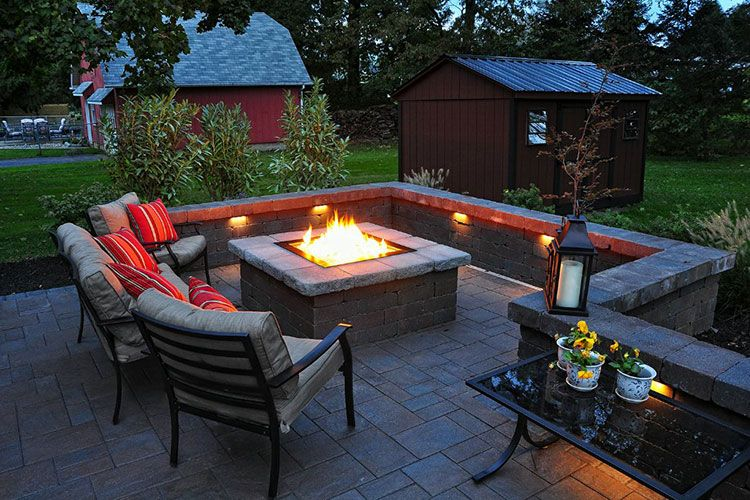 Small Outdoor Patio With Fire Pit, Fire Pit Patios