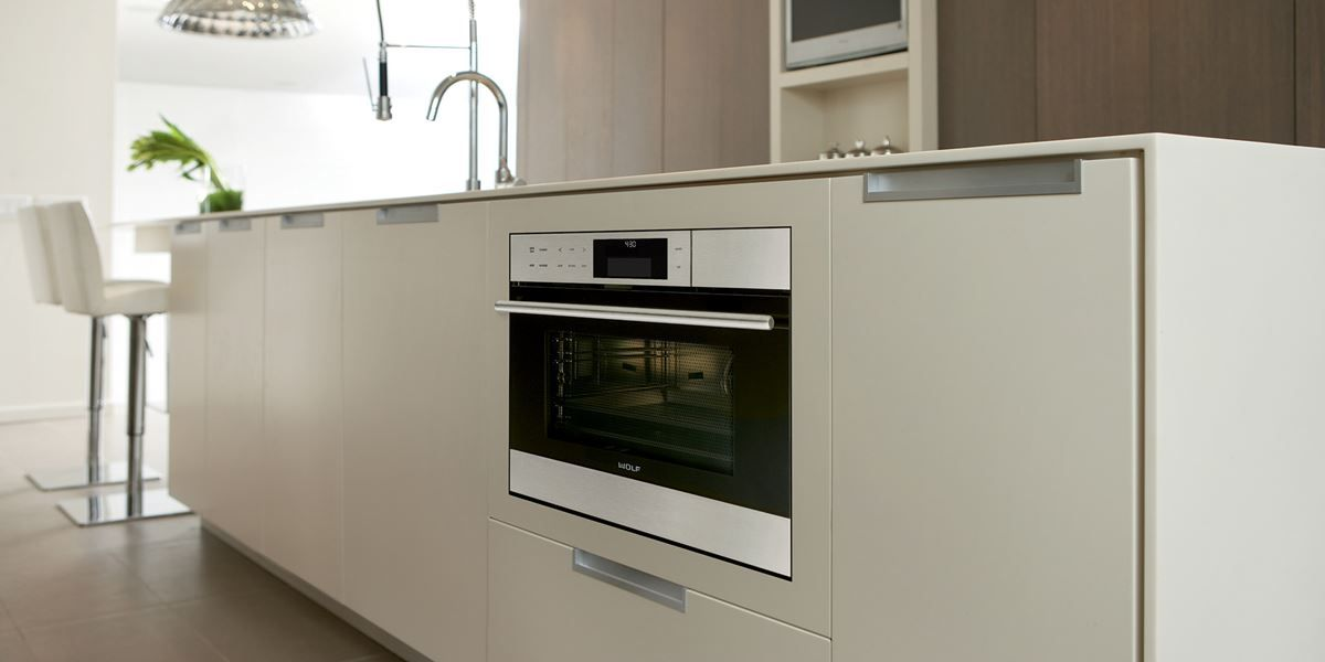 Wall Oven Built Into Base Cabinet With Gas Cooktop Above Kitchenaid Appliances By Village Home Sto Kitchen Cabinets Decor Built In Gas Ovens Kitchen Remodel