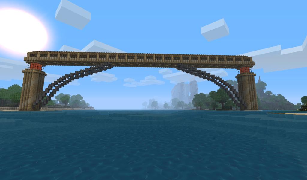 Cool Bridges Minecraft MineCraftmanship Pinterest - Minecraft ftb hauser