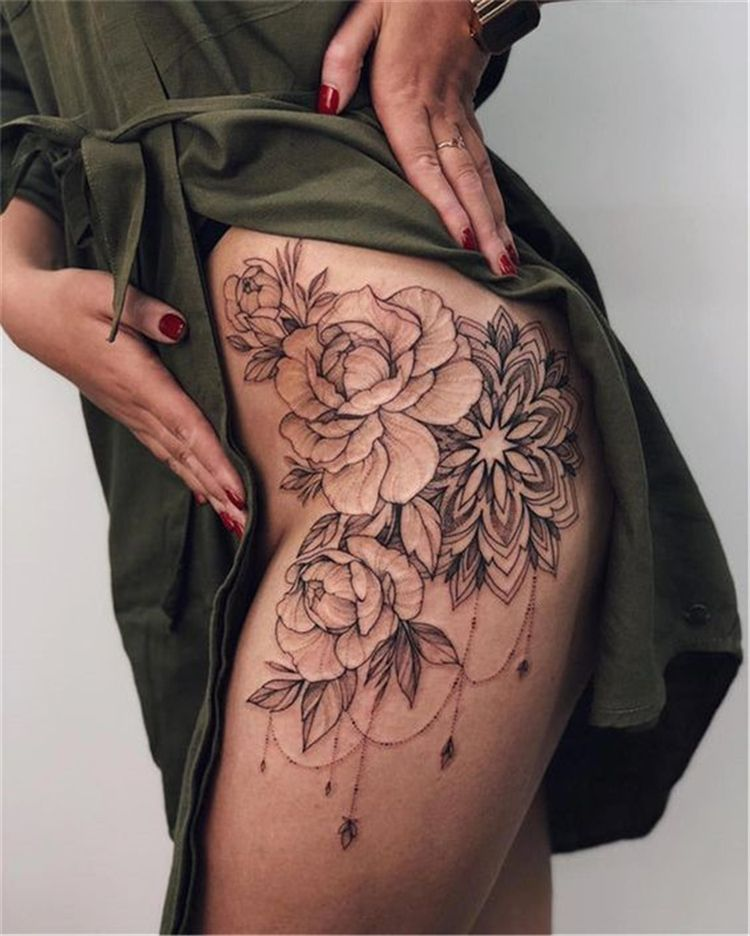 Photo of 50 Gorgeous And Sexy Hip Thigh Floral Tattoo Designs You Will Love – Women Fashion Lifestyle Blog Shinecoco.com