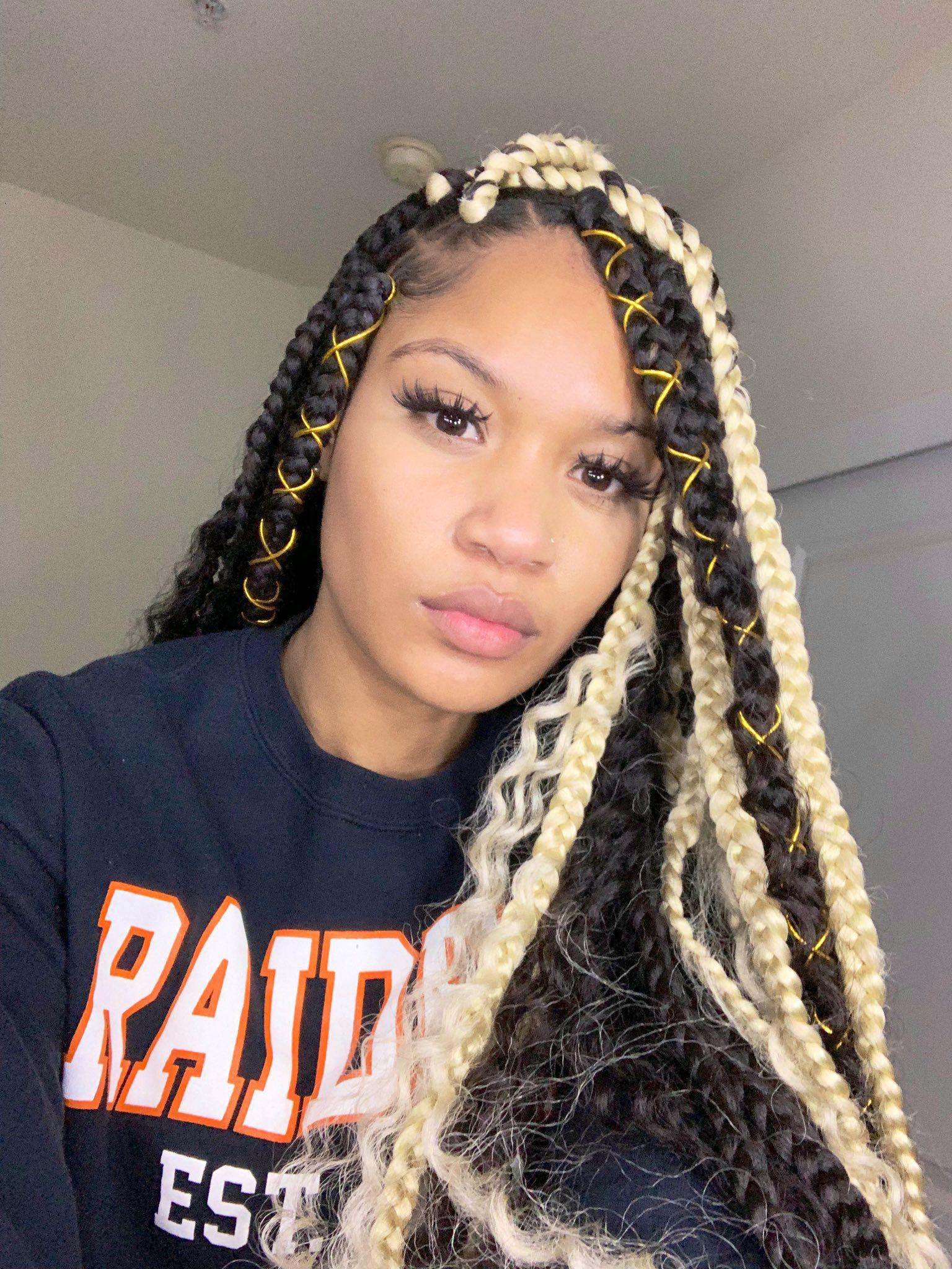 Bohemian box braids
