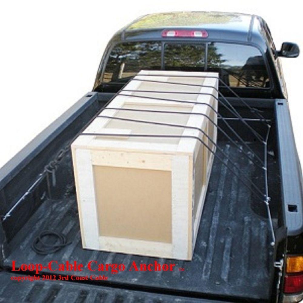 12 Pack Truck Bed Tie Down 10 Loop Stainless Steel Cable Cargo Anchor Truck Bed Truck Cargo Trucks