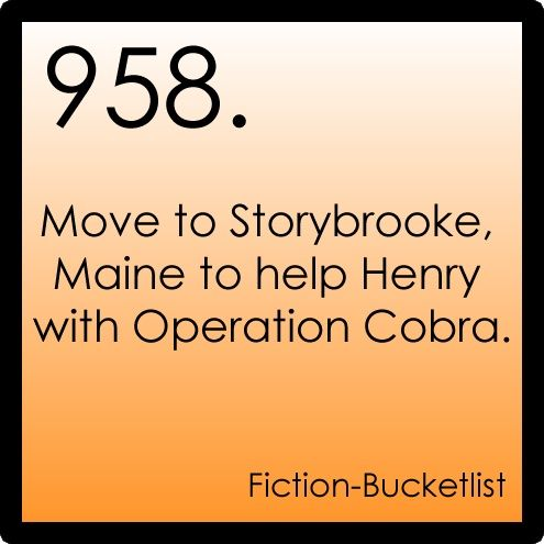 958. Move to Storybrooke, Maine to help Henry with Operation Cobra