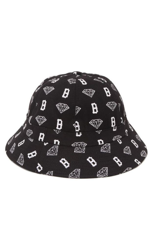 Diamond Supply Co B Brilliant Bucket Hat - Mens Backpack - Black - One cb361d569a6