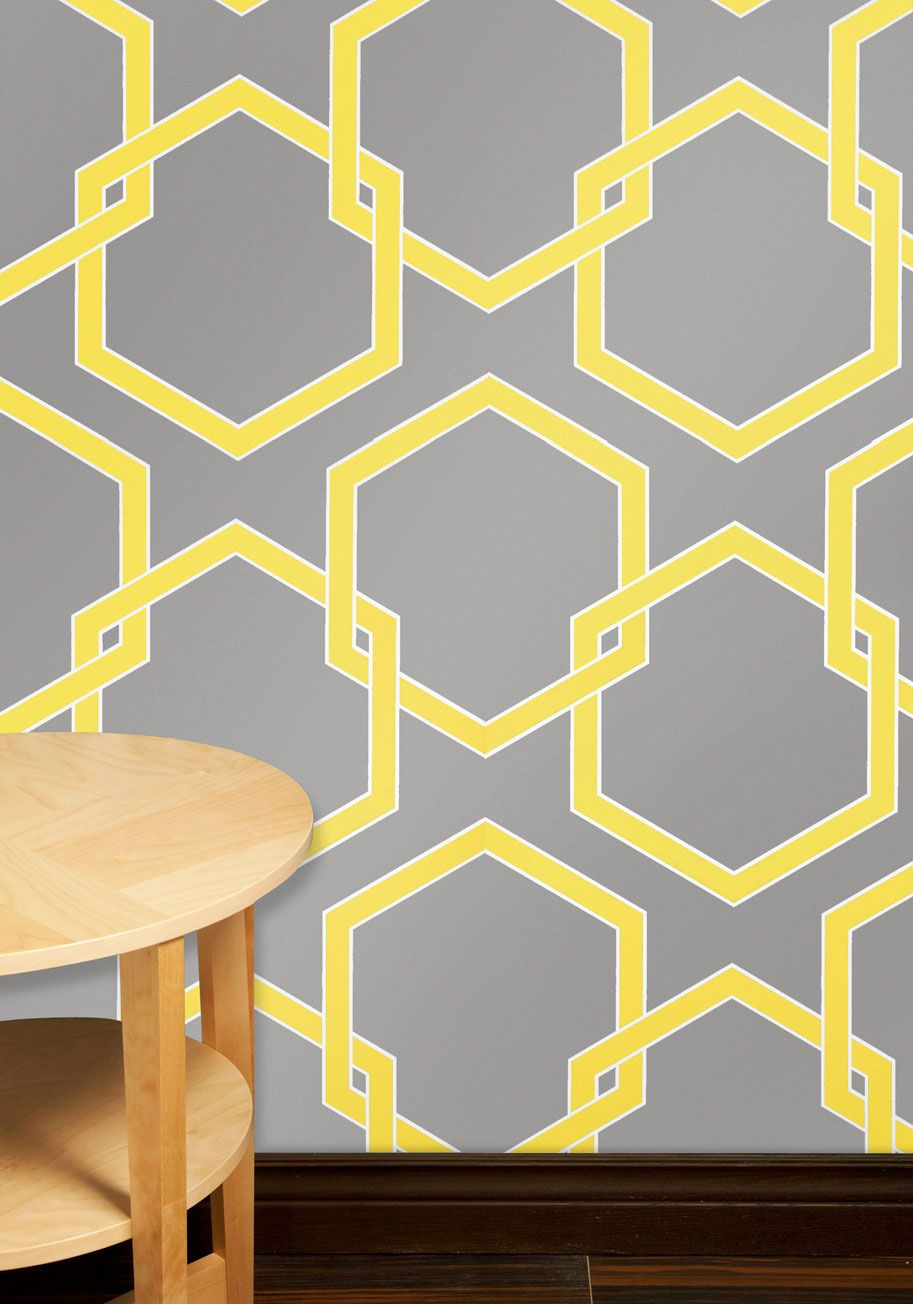 Just Us Mr. & Mrs. Table Topper | Temporary wallpaper, Grey yellow ...