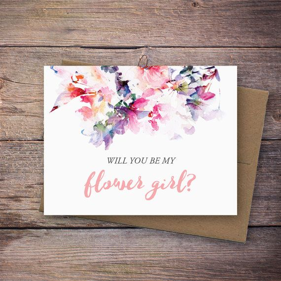 Printable Will You Be My Flower Girl Card Instant Download Greeting Card Will You Be My Flower Girl Instant Download Wedding Card Flower Girl Card Be My Bridesmaid Cards Bridesmaid Cards