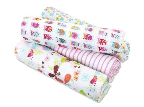 zutano for aden by aden + anais 100% Cotton Muslin Swaddle Blanket, Walk In The Park Love these prints!