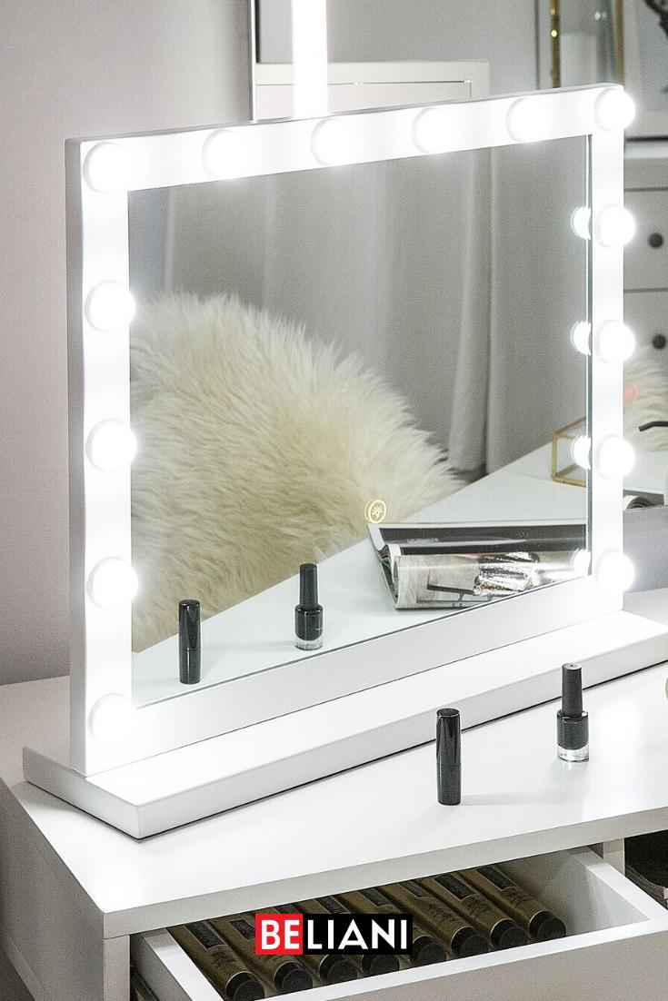 Badspiegel Mit Led Beleuchtung Rechteckig 50 X 60 Cm Beauvoir In 2020 Badspiegel Mit Led Beleuchtung Badspiegel Led Schminkspiegel