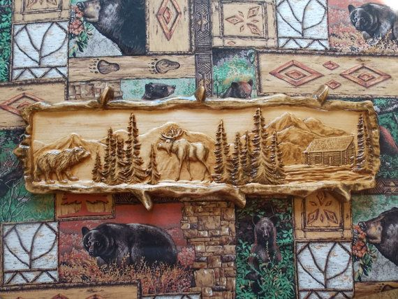 find this pin and more on wood art rustic cabin decor - Rustic Cabin Decor