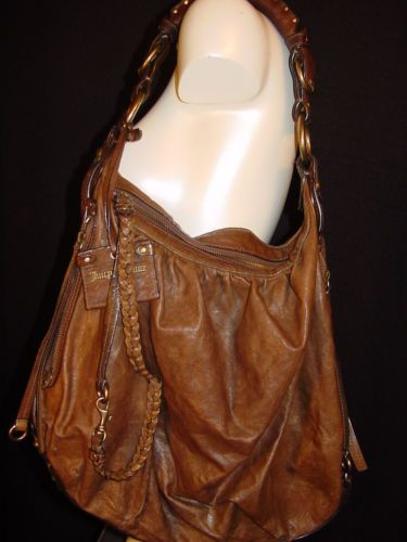 Juicy Couture Brown Distressed Leather