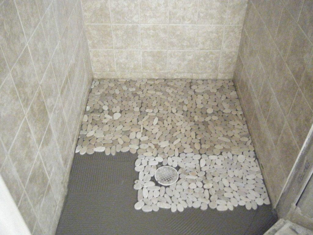 Best Tile For Shower Floors Stone Shower Floor Pebble Tile
