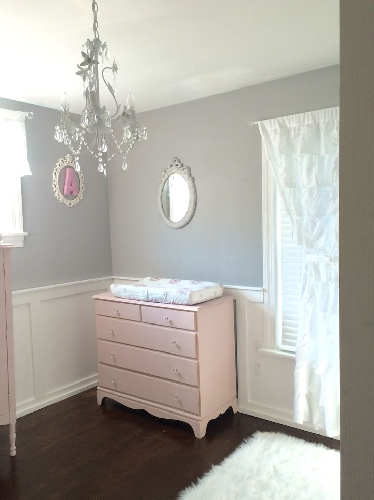 Shabby Chic Nursery Pink Gray. Annie Sloan Chalk Paint Antoinette Baby Girl  Nursery Ideas