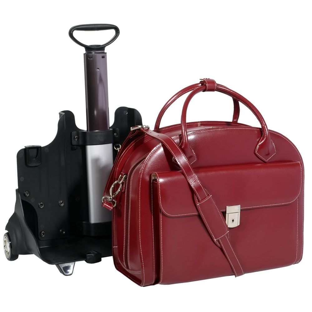 A Mcklein Glen Ellyn Showing How Easily The 2in1 Detachable System Works Off Its Wheels It Is Great Briefcase Laptop Case Or Computer Bag