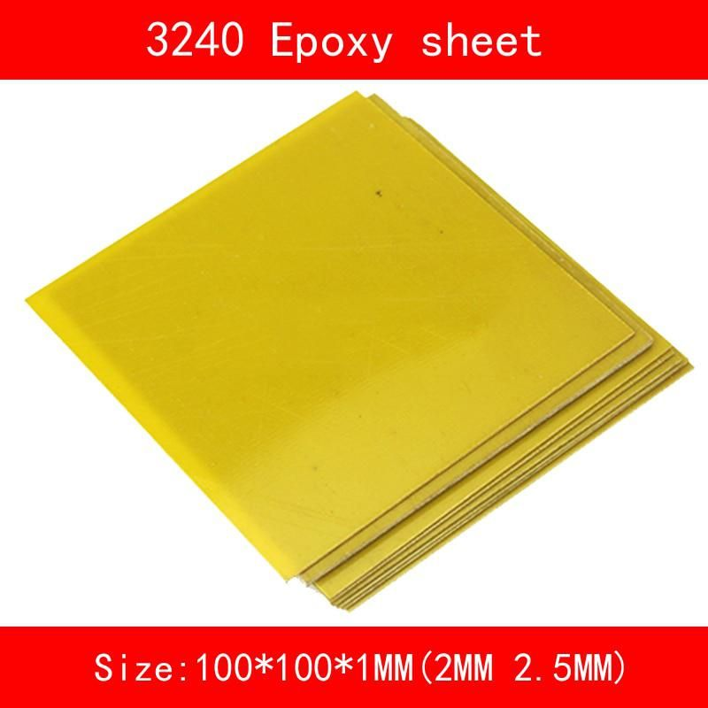10 Piece 3240 Epoxy Sheet Plate 100 100 1mm 2mm 2 5mm Yellow Epoxy Glass Fibreglass Sheet For Cnc Machine Mould Home Diy Craft Epoxy Glass Plates