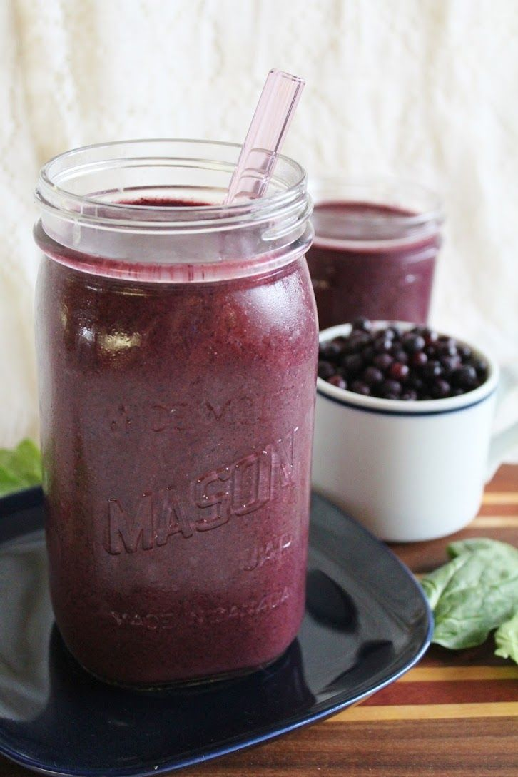 Blueberry Hemp Smoothie with Spinach *Banana *Blueberries *Hemp seeds or powder *Water or milk *Spinach *Stevia, dates, or sweetener of choice