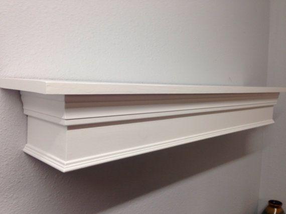 fieldstone fireplace white shelves | Mantel, Fireplace Mantle Shelf, White Mantle | Fireplace ...