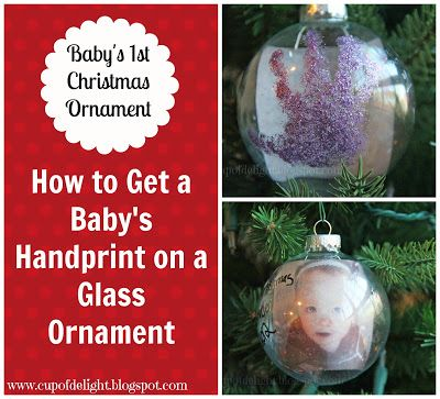 How to get a babys handprint onto a glass ornament www