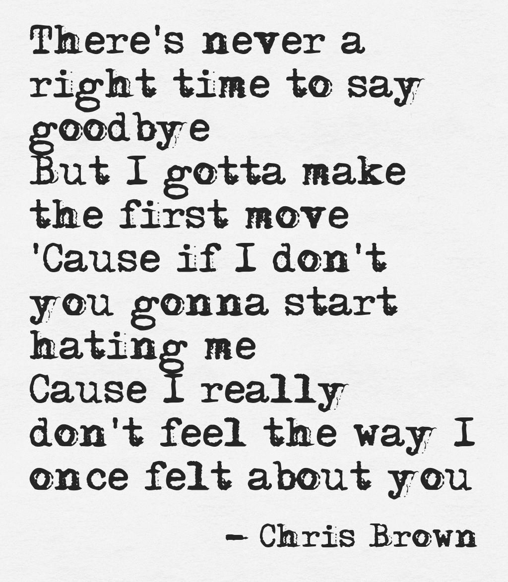 Chris Brown - Say Goodbye | Words 4 Life | Chris brown
