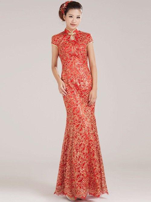 fdb606f9806 Fishtail Cheongsam   Qipao   Chinese Wedding   Evening Dress